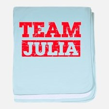Team Julia baby blanket