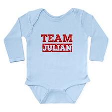 Team Julian Long Sleeve Infant Bodysuit