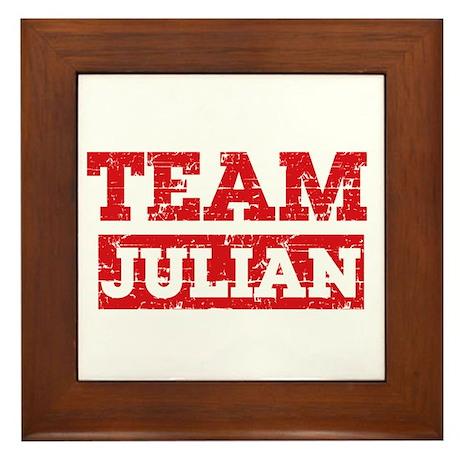 Team Julian Framed Tile