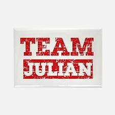 Team Julian Rectangle Magnet