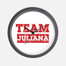 Team Juliana Wall Clock