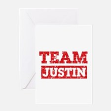 Team Justin Greeting Card