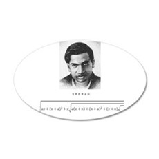 ramanujan equation with photo Wall Decal