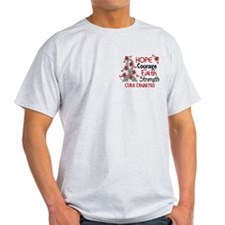Hope Courage 3 Diabetes T-Shirt