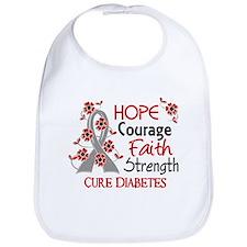 Hope Courage 3 Diabetes Bib