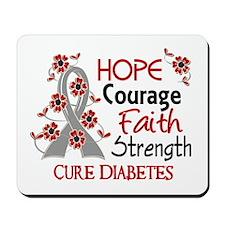Hope Courage 3 Diabetes Mousepad