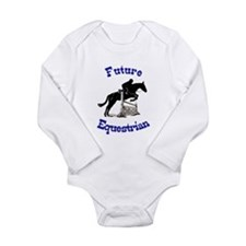 Cute Future Equestrian Horse Long Sleeve Infant Bo