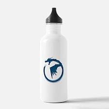Blue Solid Logo Water Bottle