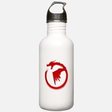 Red Solid Logo Water Bottle