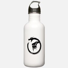 Black Detailed Logo Water Bottle