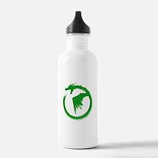 Green Solid Logo Water Bottle