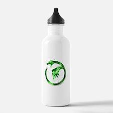Green Detailed Logo Water Bottle