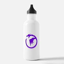 Purple Solid Logo Water Bottle