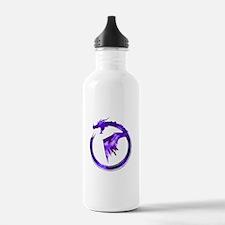 Purple Detailed Logo Water Bottle