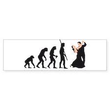 evolution dancing couple Bumper Sticker
