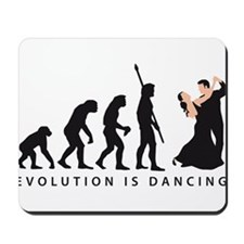 evolution dancing couple Mousepad