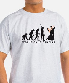 evolution dancing couple T-Shirt