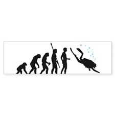evolution diving Bumper Sticker