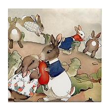 Six Bunnies Tile Coaster