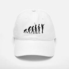 evolution trumpet player Baseball Baseball Cap