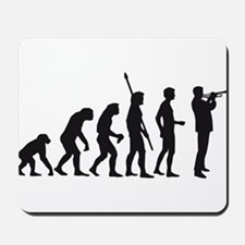 evolution trumpet player Mousepad