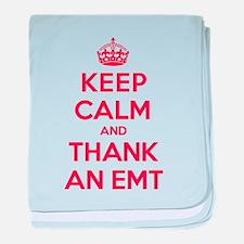 K C Thank Emt baby blanket
