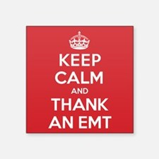 "K C Thank Emt Square Sticker 3"" x 3"""