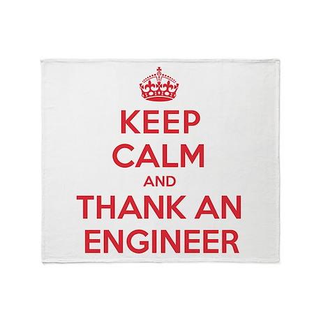 K C Thank Engineer Throw Blanket