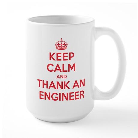 K C Thank Engineer Large Mug