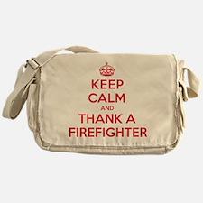 K C Thank Firefighter Messenger Bag