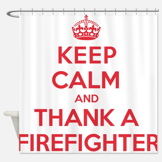 K C Thank Firefighter Shower Curtain