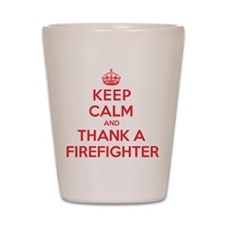 K C Thank Firefighter Shot Glass