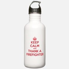 K C Thank Firefighter Water Bottle