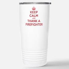 K C Thank Firefighter Travel Mug