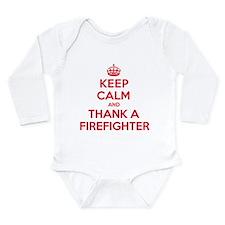 K C Thank Firefighter Long Sleeve Infant Bodysuit