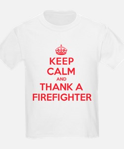 K C Thank Firefighter T-Shirt
