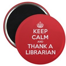 "K C Thank Librarian 2.25"" Magnet (100 pack)"