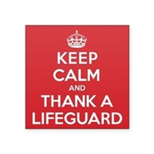 "K C Thank Lifeguard Square Sticker 3"" x 3"""