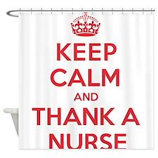 K C Thank Nurse Shower Curtain