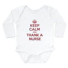 K C Thank Nurse Long Sleeve Infant Bodysuit