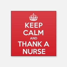 "K C Thank Nurse Square Sticker 3"" x 3"""