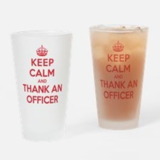 K C Thank Officer Drinking Glass