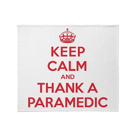 K C Thank Paramedic Throw Blanket
