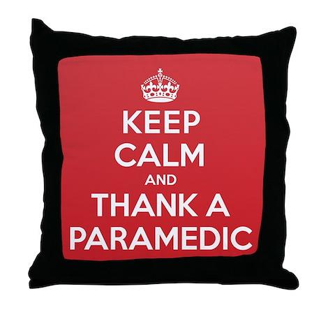K C Thank Paramedic Throw Pillow
