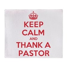 K C Thank Pastor Throw Blanket