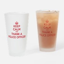 K C Thank Police Officer Drinking Glass