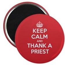 K C Thank Priest Magnet
