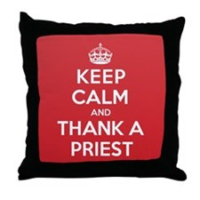 K C Thank Priest Throw Pillow