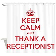 K C Thank Receptionist Shower Curtain