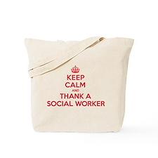 K C Thank Social Worker Tote Bag